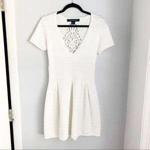 French Connection White Lace Back Dress Size 8